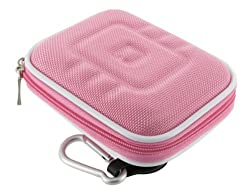 rooCASE Med Nylon Hard Shell (Pink) Case for Casio EXILIM ZOOM EX-Z77 Digital Camera Blue