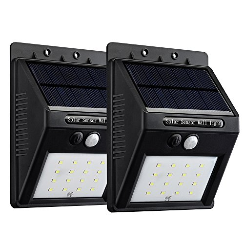 VicTsing 16 LED Solar Panel Powered Motion Sensor Lamp Outdoor Garden Security Lights for Patio, Driveway, Outside Wall, 320 Lumens, 2-Pack (Lumen Time Freeze compare prices)