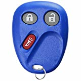 KeylessOption Replacement 3 Button Keyless Entry Remote Control Key Fob -Blue