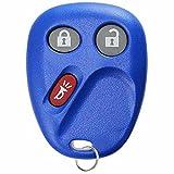 KeylessOption Replacement 3 Button Keyless Entry Remote Control Key Fob -Blue