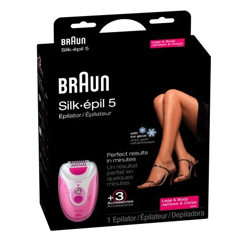Braun SE 5280 Silk Epil 5 Epilator With Ice Glove, Pink - abouther.net