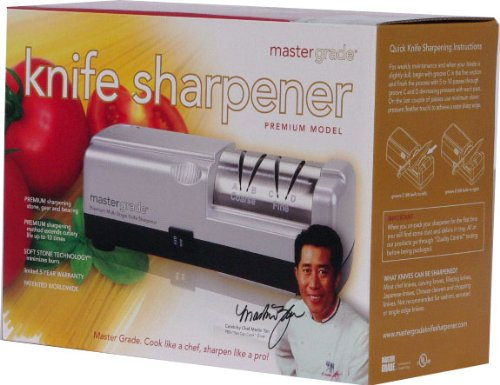 Master Grade Premium Knife Sharpener Bundle Deal with Martin Yan's Chef Knife