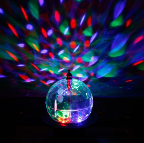 Hkbayi 20W Mini Led Rgb Rotate Crystal Magic Ball Effect Light Dmx Disco Dj Stage Lighting Us Plug