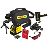 Stanley Line Laser / FatMax Cross Line Laser SCL-D 1-77-321 - Self-Levelling Line Laser with Plumb Beam Up and Down