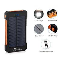 Solar Charger, Hiluckey 10000mAh Solar P...
