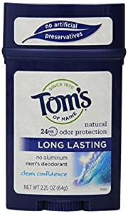 Tom's of Maine Men's Long Lasting Deodorant, Clean Confidence, 2.25 Ounce