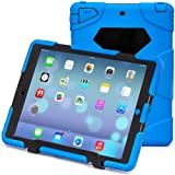iPad Air2 Case,iPad 6 Case,Aceguarder®New Design[Waterproof][Shockproof][Scratchproof][Drop resistance]Super Protection Cover Case iPad Air2(iPad 6)(2015) (blue-black)