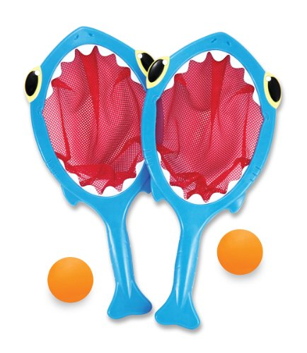 Melissa & Doug Sunny Patch Spark Shark Toss and Catch Net Pool Game With 2 Balls (Sharks Patch compare prices)