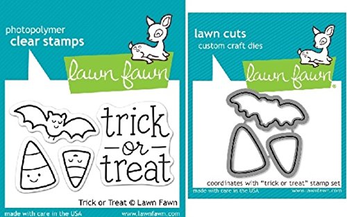 Lawn Fawn Trick Or Treat Stamp/Die Set