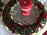 Wood & River Glass Wreath - Red & Green - Willow - Door Hanger or Candleholder