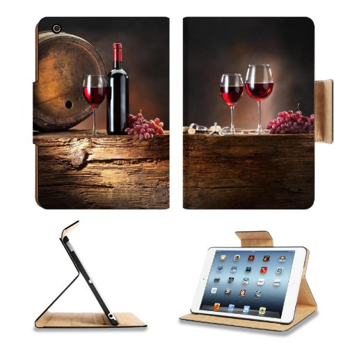 Wine Grapes Drink Cask Wine Glasses Bottle Apple Ipad Mini Retina Display Flip Case Stand Smart Magnetic Cover Open Ports Customized Made To Order Support Ready Premium Deluxe Pu Leather 8 Inch (205Mm) X 5 1/2 Inch (140Mm) X 11/16 Inch (17Mm) Liil Ipad Mi front-743332