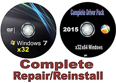 Windows 7 All in One (Starter, Home Basic, Home Premium, Professional, Ultimate) 32/64 Bit Repair, Recovery, Restore, Re-install DVD w/Network Drivers