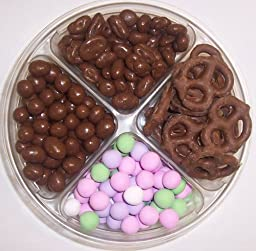 Scott\'s Cakes 4-Pack Chocolate Pretzels, Chocolate Peanuts, Chocolate Raisins, Chocolate Dutch Mints