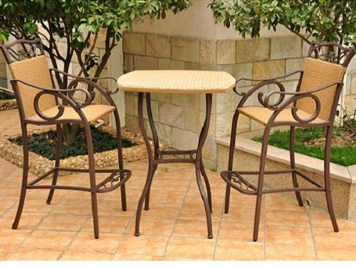 Valencia 3 Piece Bistro Bar Height Set picture