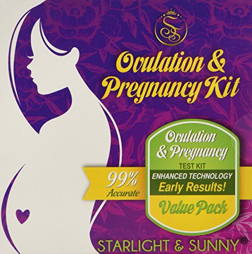 Combo 50 Count Ovulation & Pregnancy Test Kit. 40 LH + 10 HCG test strips. Ovulation Predictor kit, ovulation test strips, for fertility. - 1