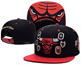 NBA Men Women Hip Hop Embroidered Chicago Bulls Team Logo Baseball Brim Cap