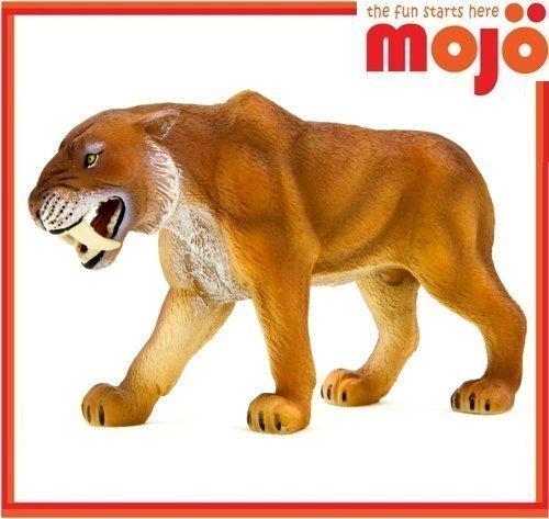 Mojo Fun 387048 Smilodon / Saber-Tooth Tiger - Realistic Prehistoric Dinosaur Toy Replica