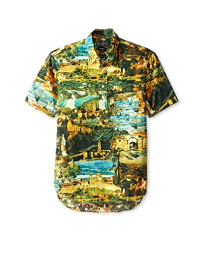 Gitman Vintage Men's Allover Print Button Down Shirt