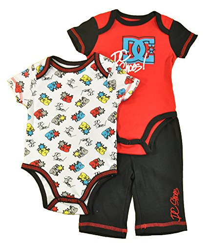 DC Shoes Baby Boys Red & Multi Color 3pc Pant Set