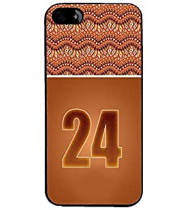 PrintDhaba Numerology Number 24 D-3659 Back Case Cover for APPLE IPHONE 4S (Multi-Coloured)