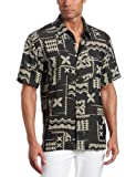 Quiksilver Waterman Men's Izu Island Woven Shirt, Black, Medium