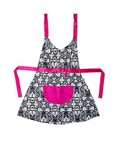 VIGAR Delantal Pink Rococco Negro / Blanco / Rosa