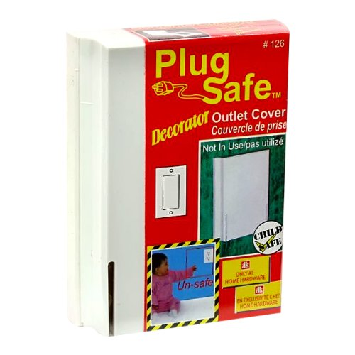 Plug Safe Decorator Child Safe Rectangular Outlet Cover #126 - 6 Covers