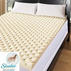 Slumber Solutions Big Bump 3-inch Memory Foam Mattress Topper (Queen)