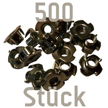 500 verzinkte Einschlagmuttern M10 für prises d'escalade (Kletterwandbau)