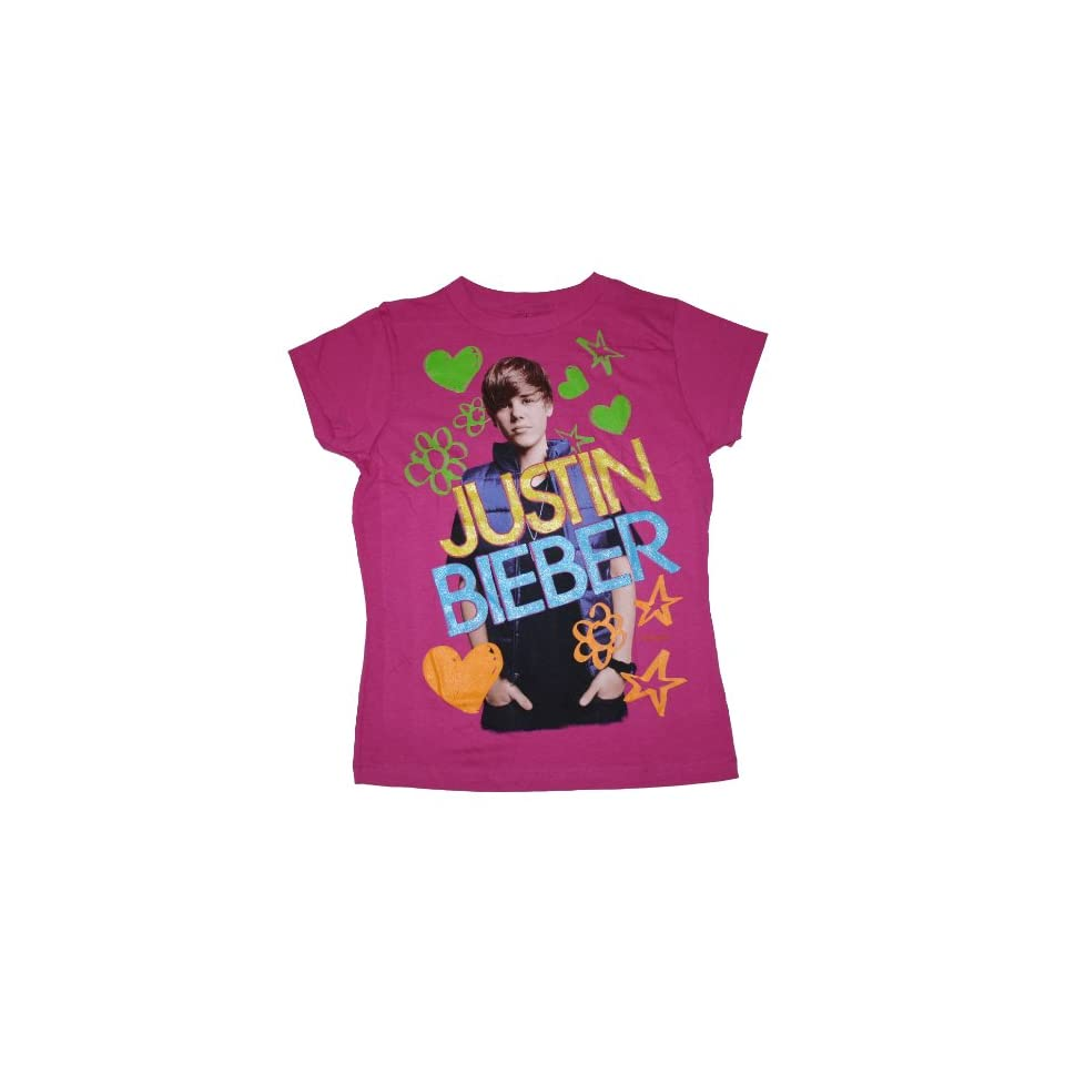 JUSTIN BIEBER   FELT PEN REMIX   YOUTH GIRLS T SHIRT (Youth 14/16)