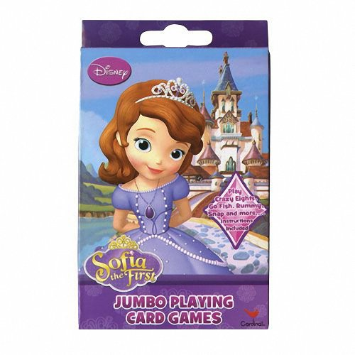 Disney Princess Sofia the First Jumbo Playing Card Game Deck - 1