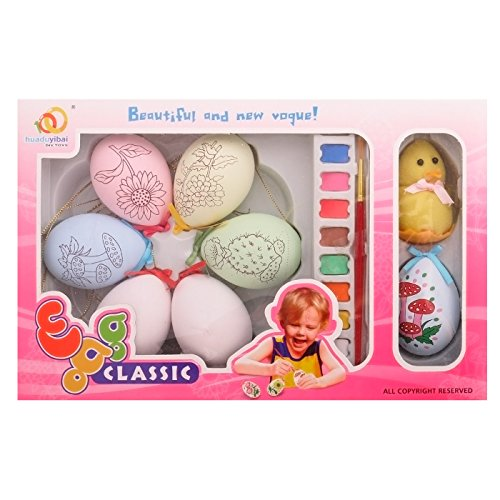 Easter Egg Painting Kit with Sample and Yellow Ducky,Pack of 6 HD100502S,T00072