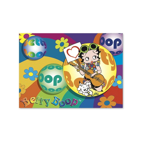 Buy Betty Boop Lenticular Postcard 4×6 , 3D Hippy Guitarist Image, Rainbow