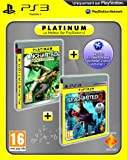 echange, troc Bi-pack : Uncharted Drake's fortune platinum + Uncharted 2: among thieves platinum + code bonus PSN