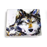 Big Sky Carvers Wolf Snack Plate, Multicolor