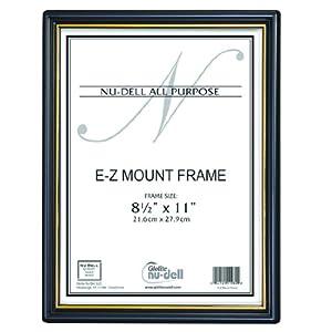 "8.5"" x 11"" EZ Mount Document Frame Glass Face, Black"