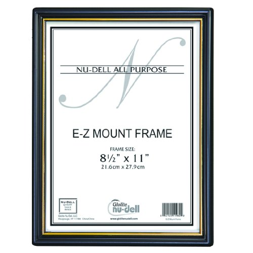 "8.5"" X 11"" Ez Mount Document Frame Glass Face, Black front-582571"