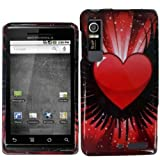 Wing Heart Hard Case Cover for Motorola Droid 3