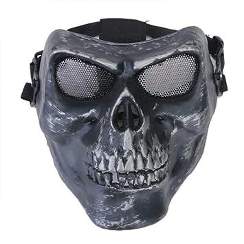 Mascara Esqueleto, negra y plata