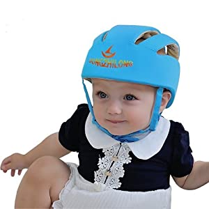 Infant Baby Toddler Safety Helmet Hat (Blue)