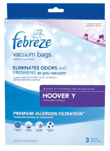 Febreze Hoover Y Replacement Vacuum Bag, 3-Pack