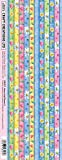 Craft Creations Creative Borders Stickers CB037P Hearts And Flowers 2 Self Adhesive Printed Paper Border Strips For Cardmaking Papercraft And Scrapbooking