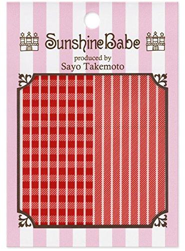SunshineBabe ネイルシール シェパードチェック レッド 3mm