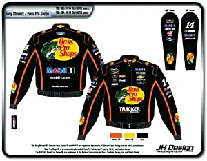2014 Tony Stewart Bass Pro Shops Mens Color Twill NASCAR Jacket XL by J.H. Design