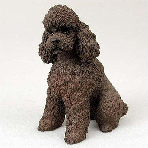 Poodle, Chocolate, Sport Cut Original Dog Figurine (4in-5in) (Chocolate Statue compare prices)