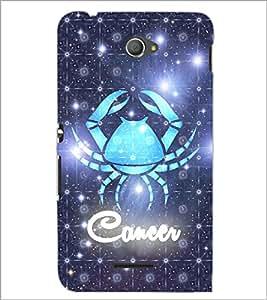 PrintDhaba Zodiac Cancer D-3243 Back Case Cover for SONY XPERIA E4 (Multi-Coloured)