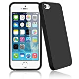 Bingsale TPU Jelly snap on Gel Soft H�lle Case Tasche schutzh�lle f�r Apple Iphone 5S 5 in Schwarz