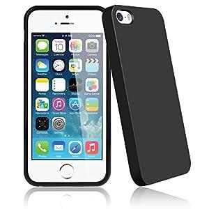 Bingsale TPU Jelly snap on Gel Soft Hülle Case Tasche schutzhülle für Apple Iphone 5S 5 in Schwarz (Iphone 5S, schwarz)