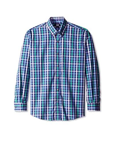 Cutter & Buck Men's Long Sleeve Cold Water Plaid Shirt