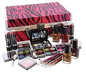Amazon.com : BR Carry All Train Case Makeup Set #AL41 46 Piece Kit